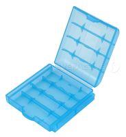 Plastové pouzdro na (4ks) baterie, modrá