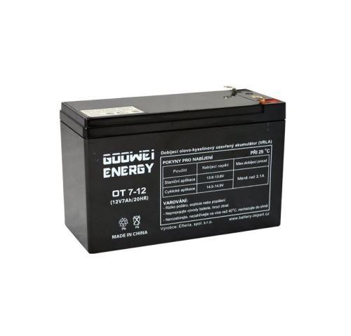 Staniční (záložní) baterie Goowei OT7-12, F1, 7Ah, 12V ( VRLA )