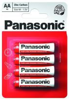 Baterie Panasonic zinco-carbon, R6RZ, AA, (Blistr 4ks)