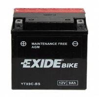 Motobaterie EXIDE BIKE Maintenance Free 12V, 8Ah 120A, YTX9C-BS