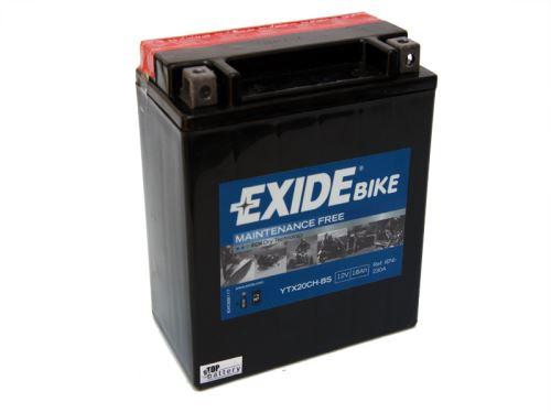 Motobaterie EXIDE BIKE Maintenance Free 18Ah, 12V, 230A, YTX20CH-BS