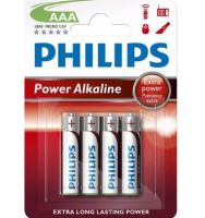 Baterie Philips LR03, AAA, Power Alkaline, (Blistr 4ks)