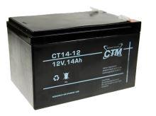Akumulátor (baterie) CTM/CT 12-14 (14Ah - 12V - Faston 250)