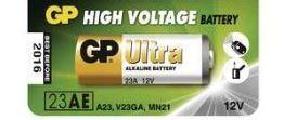 Baterie GP 23AE, LRV08, 23A, Alkaline, 12V, (Blistr 1ks)