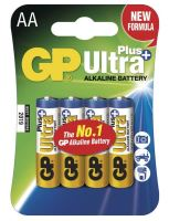 Baterie GP 15AUP Ultra Plus Alkaline, R6, AA, (Blistr 4ks)