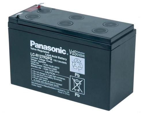 Akumulátor (baterie) PANASONIC LC-R127R2PG, 7,2Ah, 12V