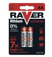 Baterie RAVER FR6, Lithium, AA, (Blistr 2ks)