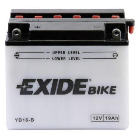 Motobaterie EXIDE BIKE Conventional 19Ah, 12V, 240A, YB16-B