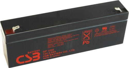 Akumulátor (baterie) CSB GP1222, 12V, 2,2Ah, Faston 187, F1, úzký