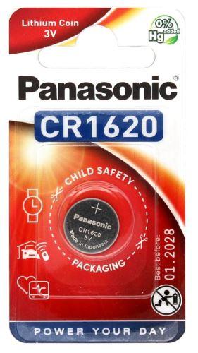 Baterie Panasonic CR1620, Lithium, 3V, (Blistr 1ks)