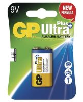 Baterie GP 1604AUP Ultra Plus Alkaline, 9V, (Blistr 1ks)