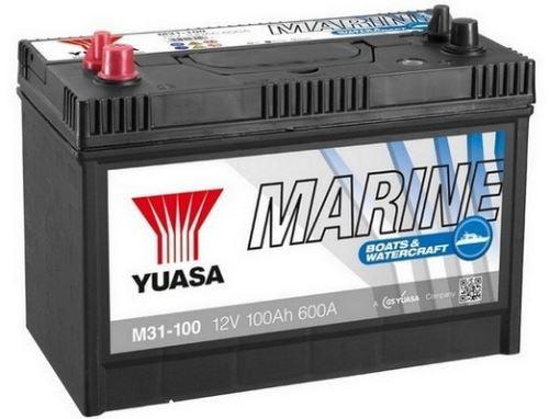 Trakční baterie GS-YUASA Marine 100Ah, 12V, 600A, lodní baterie
