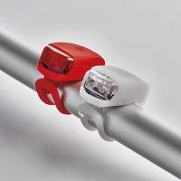 LED přední + zadní svítilna na kolo Emos P3921 na 2× CR2032,10 lm
