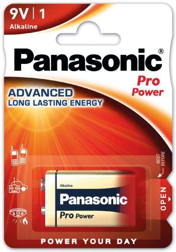 Baterie Panasonic Pro Power, 6LR61, 9V, (Blistr 1ks)