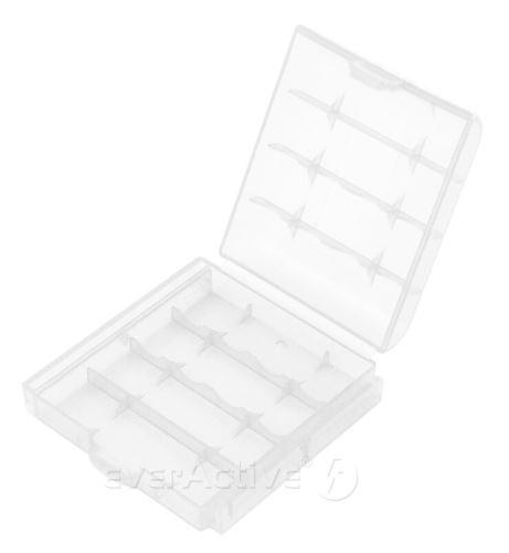 Plastové pouzdro na (4ks) baterie, bílá