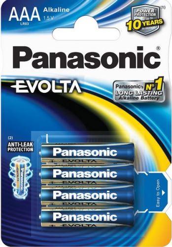 Baterie Panasonic Evolta Alkaline, LR03, AAA, (Blistr 4ks)