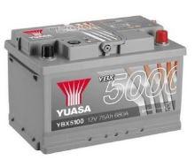 Autobaterie Yuasa Silver High Performance 75Ah, 12V, 680A (YBX5100)