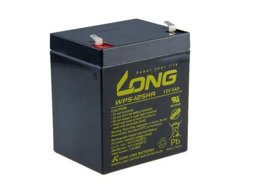 Baterie Long 12V, 5Ah olověný akumulátor F1