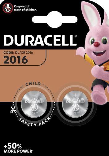 Baterie Duracell CR2016, Lithium, 3V, (Blistr 2ks)