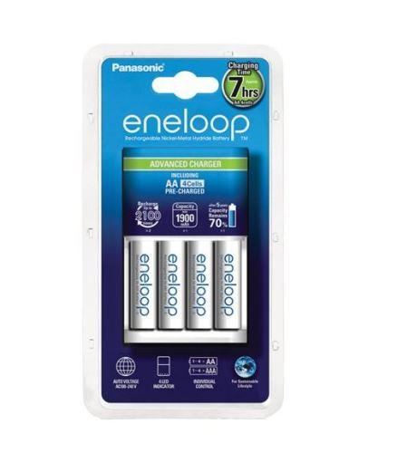 Nabíječka Panasonic Eneloop Charge BQ-CC17 + 4xBK-3MCCE, AA, 1900mAh