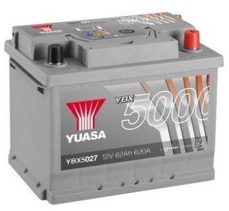 Autobaterie Yuasa Silver High Performance 62Ah, 12V, 620A (YBX5027)