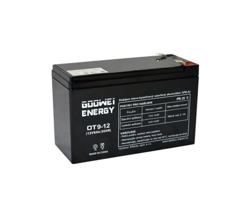 Staniční (záložní) baterie Goowei OT9-12, F2, 9Ah, 12V ( VRLA )