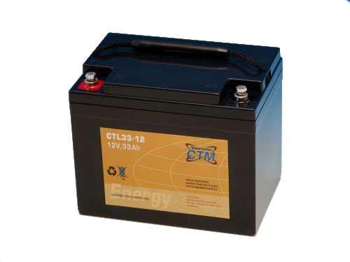 Akumulátor (baterie) CTM/CTL 12-33 (33Ah - 12V - závit M6)