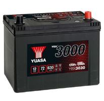 Autobaterie Yuasa YBX3000, 72Ah, 12V, 630A (YBX3030) - Japan Pravá