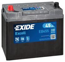 Autobaterie EXIDE Excell 12V, 45Ah, 300A, EB455 - Levá