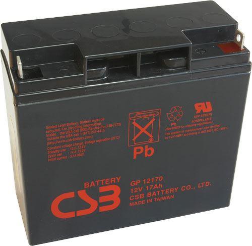 Akumulátor (baterie) CSB GP12170, 12V, 17Ah, šroubová spojka M5