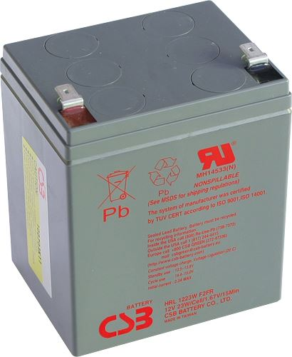 Akumulátor (baterie) CSB HRL1223W F2, 12V 5,5Ah, Faston 250, široký