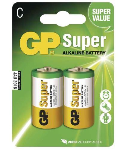 Baterie GP Super Alkaline 14A, LR14, C, (Blistr 2ks)