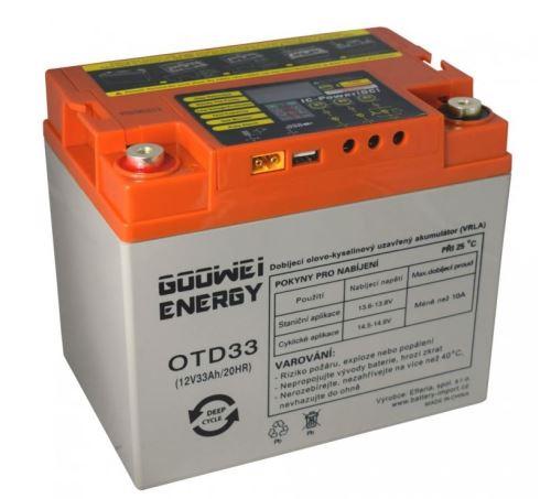 Trakční (gelová) baterie Goowei OTD33-12, 33Ah, 12V ( VRLA )