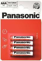 Baterie Panasonic zinco-carbon, R03RZ, AAA, (Blistr 4ks) výprodej 08/2019