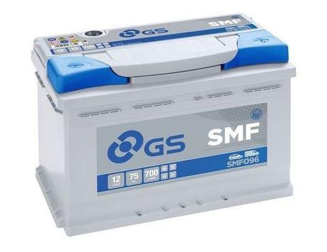 Autobaterie GS SMF/Yuasa 75Ah, 12V, 700A, SMF096