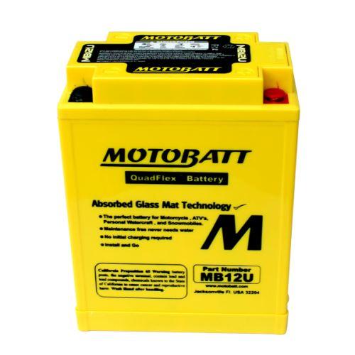 Motobaterie Motobatt MB12U, 12V, 15Ah, 160A (YB12A-A, YB12AL-A, 12N12-4A)