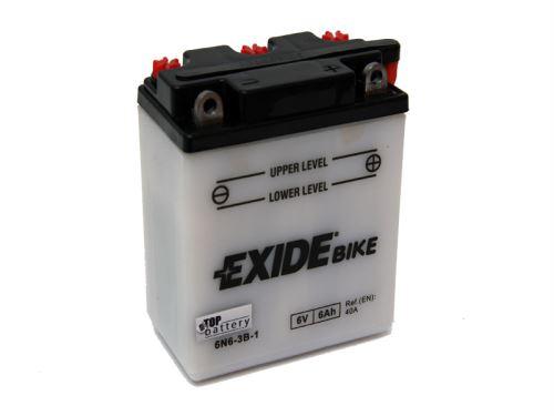 Motobaterie EXIDE BIKE Conventional 6V, 6Ah, 30A, 6N6-3B-1