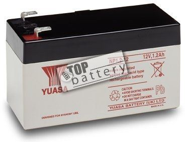 Záložní akumulátor (baterie) Yuasa NP 1,2-12 (12V, 1,2Ah)