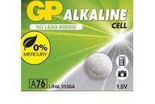 Baterie GP Alkaline LR44, A76, AG13, 1,5V (Blistr 1ks)