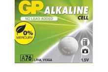 Baterie GP Alkaline LR44, A76, AG13, L1154, 1,5V (Blistr 1ks)