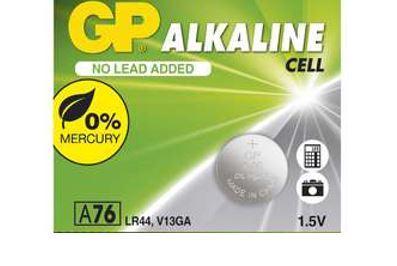 Baterie GP LR44, GP A76, AG13, Alkaline ,1,5V, 1041007611, 1041007615 (Blistr 1ks)
