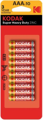 Baterie Kodak R03, AAA, Zinc, 1,5V,  (Blister 10ks)