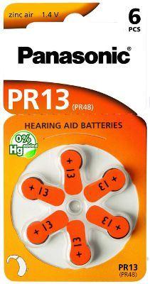 Baterie do naslouchadel Panasonic Zinc-Air PR13(48)/6LB, (Blistr 6ks)