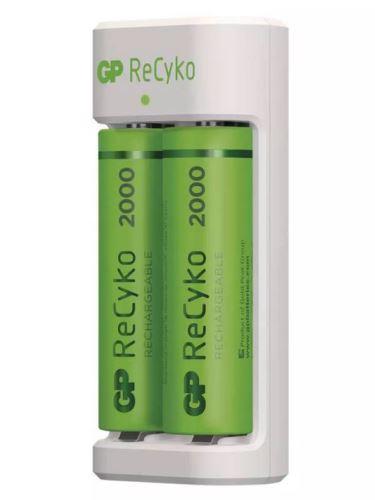 Nabíječka baterií GP Eco E211 + 2× AA 2000 ReCyko, B51214, (USB) 1604821110