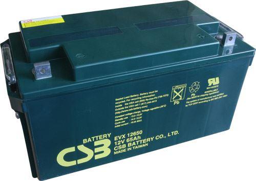 Akumulátor (baterie) CSB EVX12650, 12V, 65Ah, šroubová spojka M6