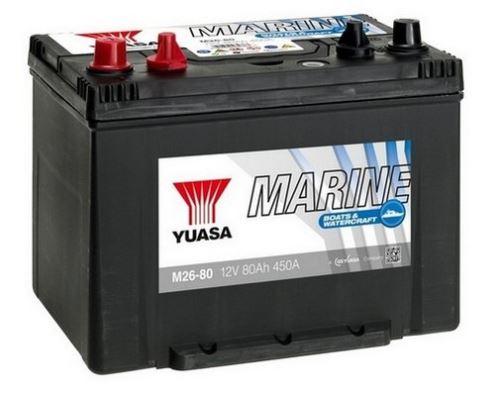 Trakční baterie GS-YUASA Marine 80Ah, 12V, 450A, lodní baterie