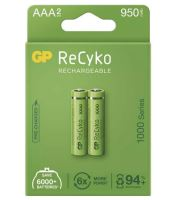 Baterie GP ReCyko+ 1000mAh, HR03 (AAA), Ni-Mh, nabíjecí, 1032112080, (Blistr 2ks)