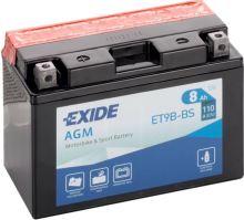 Motobaterie EXIDE BIKE Maintenance Free 8Ah, 12V, 115A, YT9B-BS