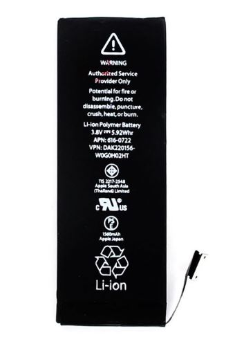 Baterie Apple iPhone 5S,1560mAh Li-Ion Polymer, originál (bulk) 2500008337449
