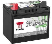 Baterie Yuasa Garden U1 30Ah, 270A, baterie pro zahradní techniku (Plus vlevo)